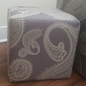 BOGO$1~~Two Paisley Ottomans (NWOT)